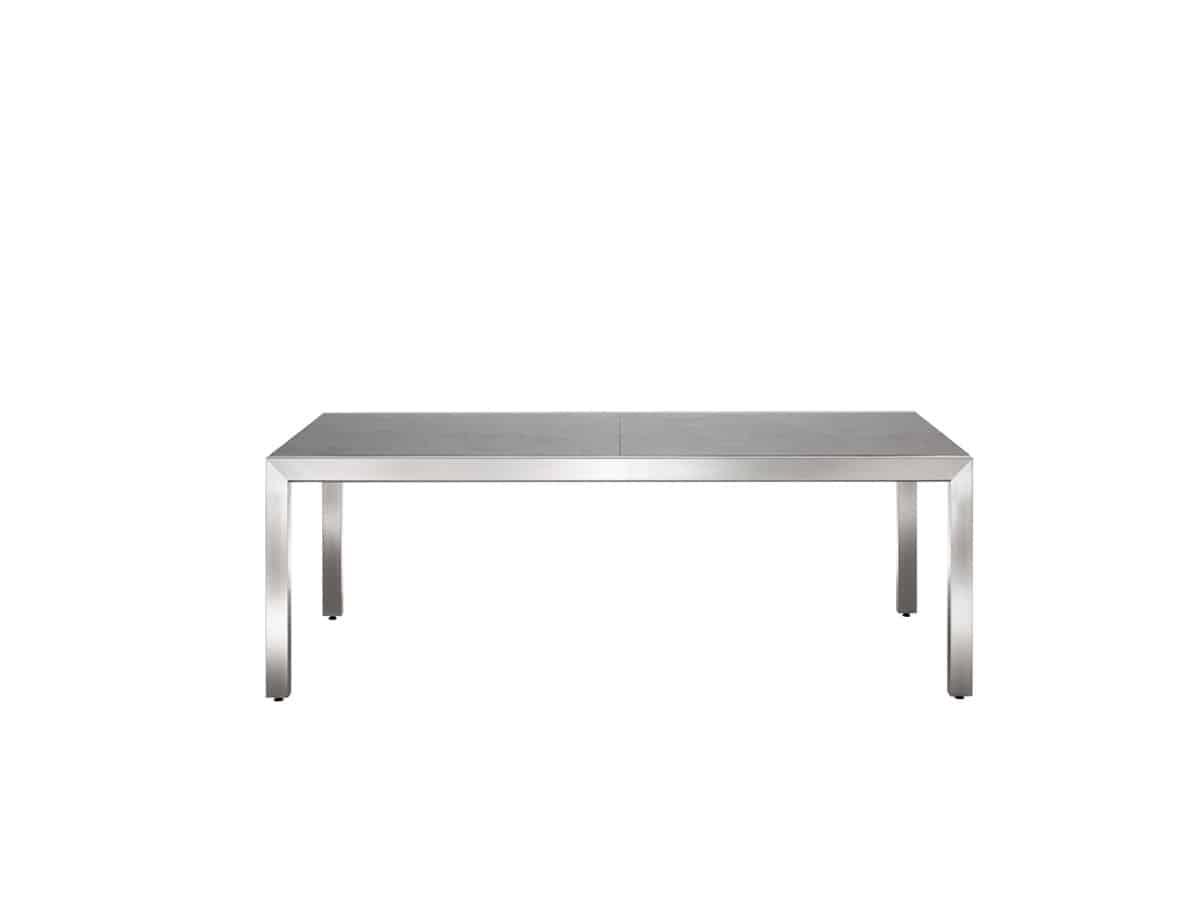 Classic stainless steel ceramic ausziehtisch solpuri for Ausziehtisch design