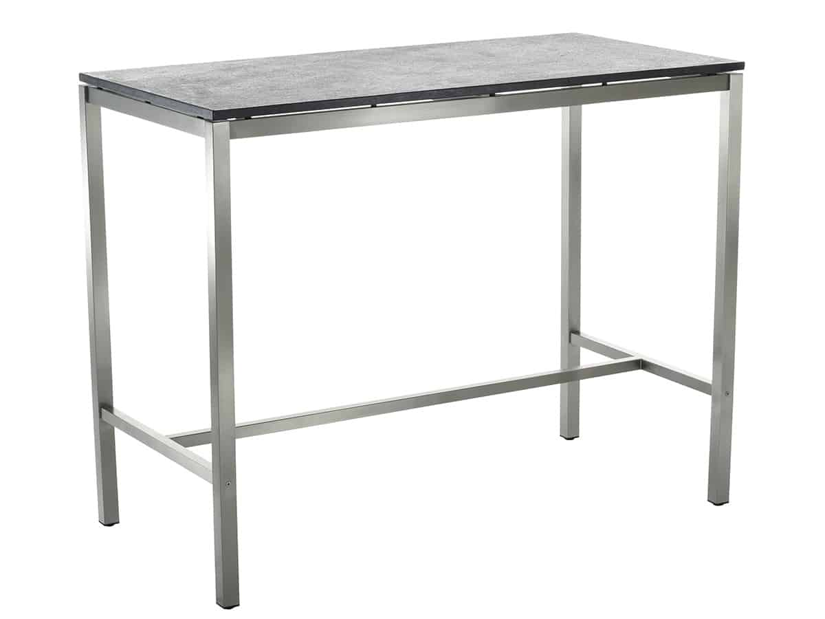 Classic stainless steel ceramic bar table solpuri for Bar table cuisine