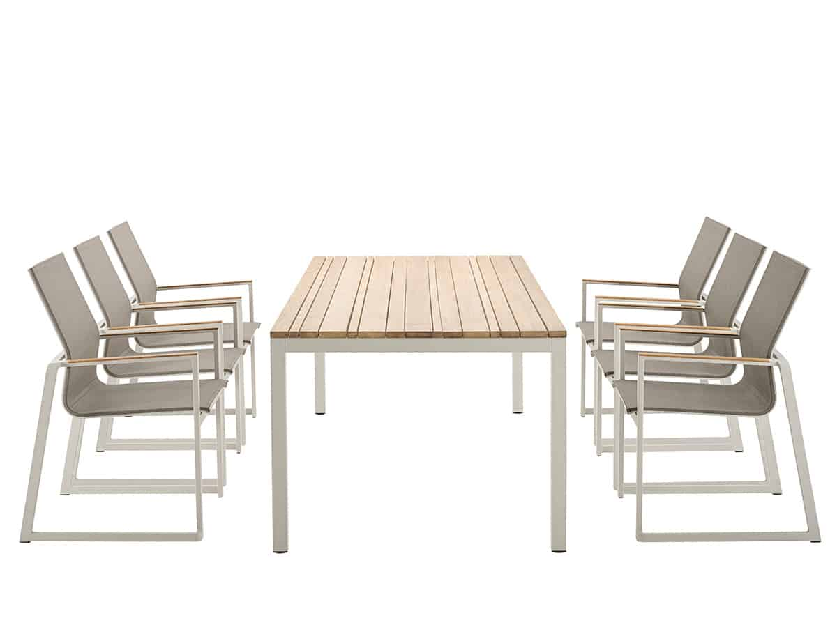 Foxx Stacking Chair With Teak Armrest Solpuri