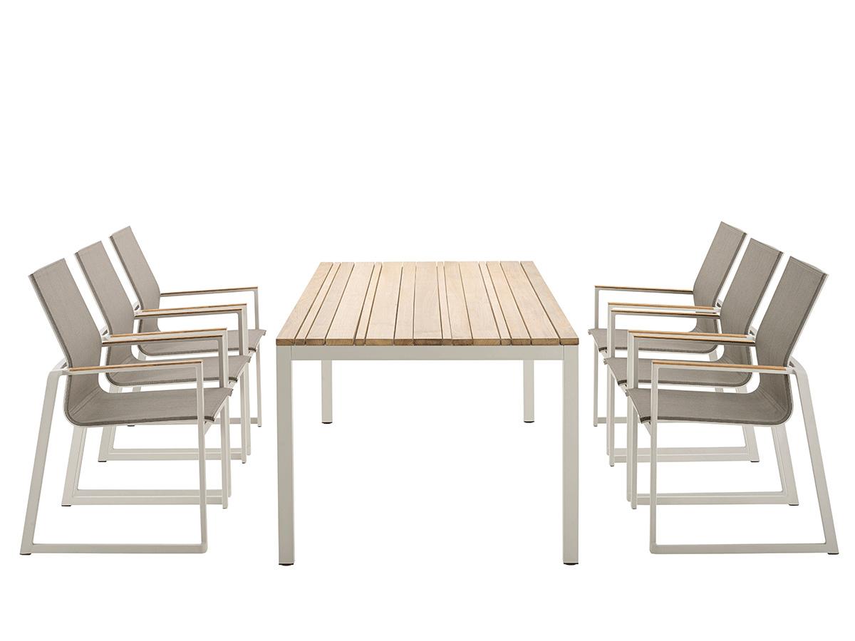 CLASSIC Alu Teak dining table - solpuri