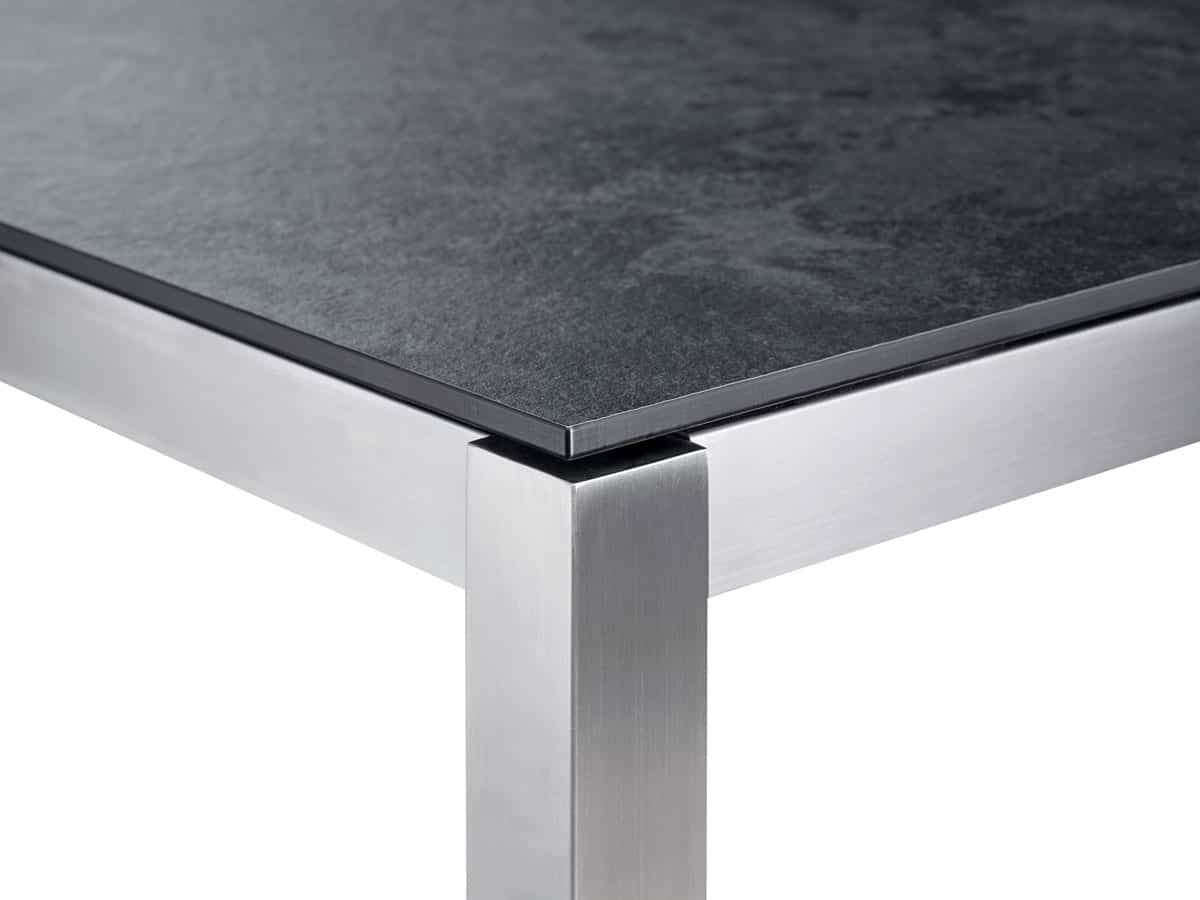 Classic Stainless Steel Hpl Dining Table Solpuri