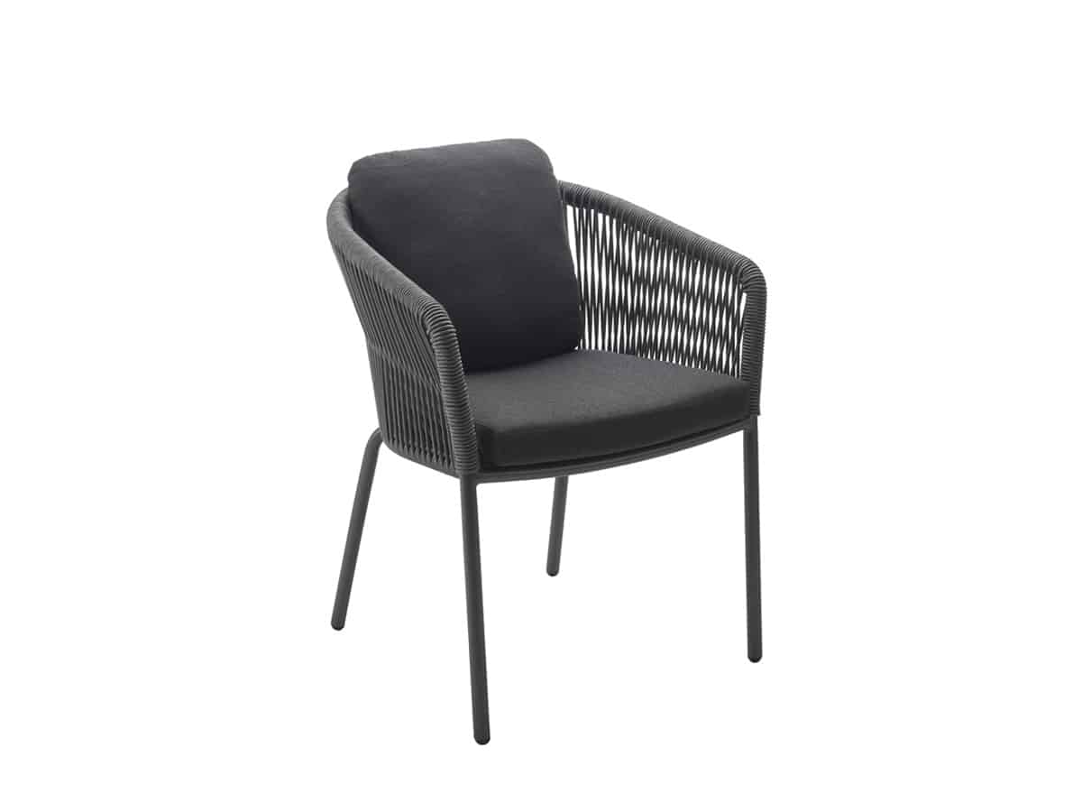 LOOP Dining Chair incl. Seat Back Cushion square - solpuri
